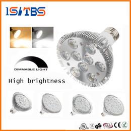 Wholesale Par38 Led - Dimmable Led cree par38 par30 par20 85-265V 9W 10W 14W 18W 24W 30W E27 LED Lighting Spot Lamp light downlight