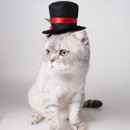 Mascota Negro Sombrero del Caballero Clásico Adornos de Navidad Cap Cat  Accesorios para el Perro Disfraces de Halloween Gato Envío Gratis ZA6594  rebajas ... 6493a706f09