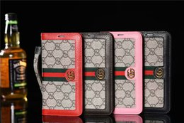 G portefeuille plus en Ligne-Luxe Design G type En Cuir Portefeuille Flip Couverture Pour Iphone X Xr Xs Max 8 8plus 7 7plus 6 6 s Plus Mode Téléphone Cas De Protection De Haute Qualité