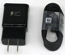 2019 iphone 4s tragbare ladegeräte Hochwertiges S8 2A / 5V 1,67A / 9V schnelles Aufladen USB-Ladegerät + 1,2 m S8 Typ C-Kabel EP-TA20JBE für Samsung S8 S9 Note4 5