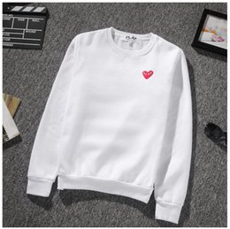Wholesale Embroidered Heart - kanye west High quality red heart embroidered sweater men women yeezus streetwear hip hop Sweatshirts justin bieber hoodie jacket