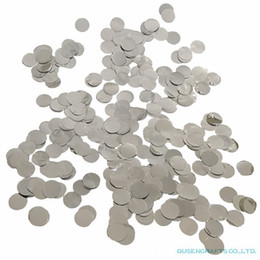 Wholesale Table Scatters - Wholesale-30g lot 25mm Silver Confetti sequins Metallic Multicolor Confetti Happy New Year table decoration scatters
