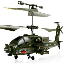 Wholesale remote control metal helicopter toy - SYMA Simulation Helicopter Model With LED Light S109G 3CH Beast Remote Control Airplane RC Military Flying Drone Toy For Children 84pp YY