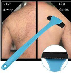 Wholesale Plastic Remover - Plastic Manual Back Hair Shaver Remover Long Handle Razor Men Shaving All Body Parts Hair Blade Remover KKA4523