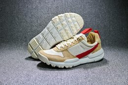 Wholesale Natural Flat Shoes - Tom Sachs x Craft Mars Yard 2.0 TS NASA Mens Running Shoes AA2261-100 Natural Sport Red Sneakers Sports Shoes Zapatillas Vintage Trainers