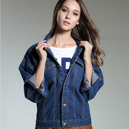 Loose Classical Jeans Chaquetas Casual Fashion Mujer Vintage Denim Coats Back Embroidery Ladies Oversize Jacket Spring desde fabricantes