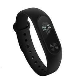 Wholesale heart rate pulse meter - new Original Xiaomi Mi Band 2 Smart Fitness Bracelet watch Wristband Miband OLED Touchpad Sleep Monitor Heart Rate Mi Band2 Free Screen Film