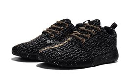 Argentina One X Kanye Zapatos para correr para hombre 2018 New Gold Black Knitting Hombre Trainer Shoes Boots US7-11 Suministro