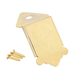 гитара гайка долбежные Скидка Мост Tailpiece мандолины золота с винтом для вспомогательного оборудования гитары коробки сигары