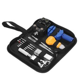 Outils de kits de réparation de montre professionnelle en Ligne-Trousse à outils professionnelle de réparation de montres 13PCS Ouvre-bande de liaison Remover Tournevis Set d'outils de l'horloger Pince à épiler horloger Appareil dédié