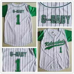 2018 jerseys de uniforme de béisbol Jerseys de película Kekambas para hombre 1 Jarius G-Baby Evans Uniforme para uniforme uniforme Incluye parche ARCHA 100% cosida para béisbol verde blanco rebajas jerseys de uniforme de béisbol