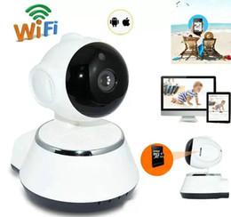 2019 lautsprecher optisch Sicherheits-drahtloser Mini-IP-Kamera-Überwachungskamera Wifi 720P Nachtsicht-Überwachungskamera-Baby-Monitor OM-S4