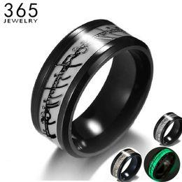 2019 um anel de dedo Novo Aço Inoxidável O Senhor De Um Anel Fluorescente Preto Brilhante Logotipo Em Anéis de Dedo Escuro Para homens Navio Da Gota um anel de dedo barato