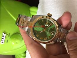 2019 механические часы зеленый циферблат Роскошные часы высокого качества Datejust 178273 31мм зеленый Римский циферблат 18k желтое золото Азия 2813 механические автоматические женские часы скидка механические часы зеленый циферблат