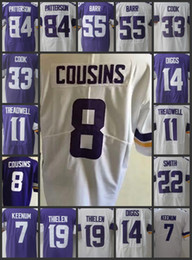 Men Minnesota Vikings Limited Women Jerseys  7 Case Keenum 14 Stefon Diggs  19 Adam Thielen 8 Kirk Cousins Youth Embroidery Jersey 05a5bbdec
