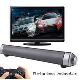 Wholesale Portable Small Speaker - Sound Bar Wireless Subwoofer Bluetooth Speaker 10W (2*5W) Small TV Soundbar Bluetooth Receiver Stereo Super Bass