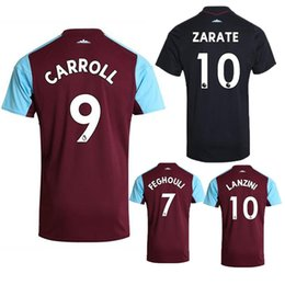 Wholesale Quality Ham - New 2018 WestHam United Soccer Jersey 2017 18 Home Red Away White Soccer Jersey 17 18 West Ham Football Shirts Thai Quality Jeresys
