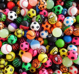Wholesale random sports - 32MM Elastic Ball Bouncy Balls Printing Scrub Rubber Bouncing Balls Decompression Toy Random Styles 500pcs OOA4889