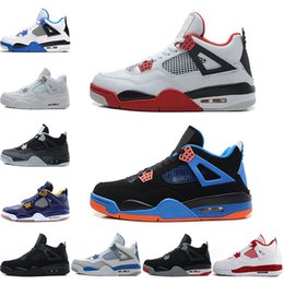 1015f537716a 2018 New Cement 4 Basketball Shoes 4s Cavs Bred Toro-Bravo Thunder Pure  Money Oreo Fear Pack Mars Blackmon Motosports Sports Sneakers