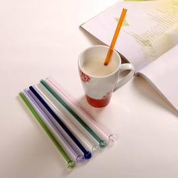 Wholesale health glasses - 20cm Creative Drinking Straws Pipette eco-friendly Drinking Straws Glass Pipet Glass Health Baby Drinking Straws DDA447