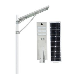 Wholesale Solar Led Road Light - Radar Sensor 50W Led Solar Street Light Waterproof LED Road Light LiFePO4 Battery2000+cycles 8 Years Lifespan Mono solar panel Security lamp