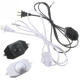Interrupteur de gradateur de lumière blanche en Ligne-Nouvelle Arrivée 1.8 M Blanc Noir AWG Commutateur Gradation Câble Lumière Modulateur Lampe Ligne Gradateur 110-220 V Pour Luminosité Réglable