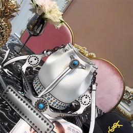 Argentina Otoño e invierno nueva marca de lujo de alta calidad bolso de hombro femenino bolsa de cubo de la moda clásica bolso del bolso del mensajero Suministro