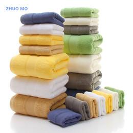 Wholesale Gm Set - 3-Piece Solid Color Heavy Egyptian Cotton Towel Set Bath Towel Face GMS 650G Water-absorbent toallas for Bathroom