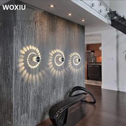 Argentina WOXIU 3W LED Luz de pared Lámparas de techo de aluminio Lámpara de baño Moderno efecto stahler Baño Luz de la pared del salón Suministro