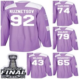 stanley cup champions 2019 - 2018 Stanley Cup Champions Men Washington  Capitals Fights Cancer Purple Evgeny 64de701da