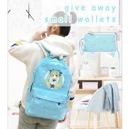 64fae3a3cb5c Candy color Kawaii Women Shoulder Bags Hatsune Miku Printing Backpack  Feminina School Bags for Teenage Girls Rucksack