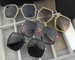 Wholesale Ladies Leg Sunglasses - Luxury Brand Designer 0106 Sunglasses Women Fashion Polygonal Frame Mixed Colour Sun Glasses Summer Retro For Ladies Honeybee Sign on Legs
