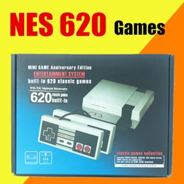 Wholesale Free Games Nes - Mini TV Video Handheld Game Console Entertainment System Built-in 620 Classic Games For Nes Games PAL&NTSC With Retail Box Free DHL