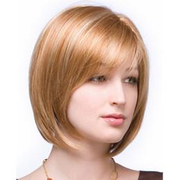Wholesale 10 pouces Perruques de remplacement de cheveux brun clair la plus récente de la mode féminine belles postiches poses fantaisie robe perruque courte perruque Bob