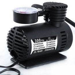 Wholesale air psi - Mini DC 12V Electric Car Auto Inflatable Pumping Air Pumps Compressor 300 PSI for Bicycle Motorcycle