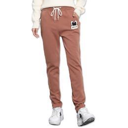 Wholesale Loose Trousers For Women - Winter Women Fleece Pants Sweatpants Women's Casual Stretch Feet Thick Velvet Warm 2XL Pants Trousers Sportswear For Female V023