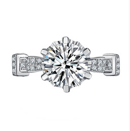 Wholesale Diamond Ring 5ct - Gorgeous Amazing 5Ct Engagement Big Diamonds Ring for Women Sterling Silver Jewelry Lord Ring Synthetic Diamonds Ring S925