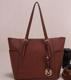 Wholesale Black Bowling Bag - 2018 Famous brand fashion women bags PU leather luxury handbags Designer bags purse shoulder tote Bag M820