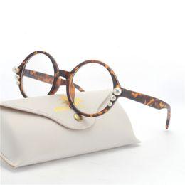 mincl  New 2018 Fashion round Glasses Frames Brand Design Vintage Cat sunglasses Frame Women Clear Black Leopard optical NX