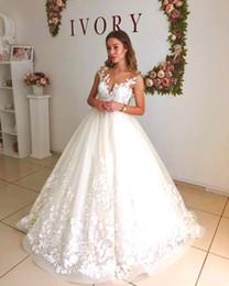 vestidos de novia únicos de invierno Rebajas Elegante encaje Sheer cuello una línea de vestidos de novia tapa mangas maternidad embarazada sin respaldo más tamaño vestidos de novia a medida DH4078