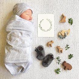 Mutter & Kinder Neugeborenen Baby Schlaf Fotografie Requisiten Decke Floral Tier Druck Tuch Handtücher Wrap Hut Zubehör Baumwolle Jungen Mädchen