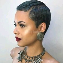 Wholesale Burmese Wavy - For Black Women Brazilian Short Bob Human Hair Wigs 130 Density Lace Front Wigs Natural Wavy Glueless Full Lace Wigs With Baby Hair