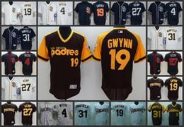 c5204bc55 San Diego Padres Men Jersey  4 Wil Myers 19 Tony Gwynn 31 Dave Winfield 27  Matt Kemp Woman Youth Baseball Jerseys