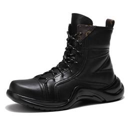 2019 sapatas de trabalho ocasionais do preto dos homens 2018 Novos Homens Sapatos de Trabalho Casuais Outono Inverno Botas de Bota de Couro Genuíno Tornozelo Mens Botas Pretas Brancas Casuais sapatas de trabalho ocasionais do preto dos homens barato