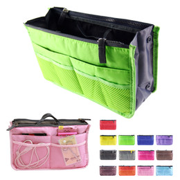 bag insert pouch Coupons - Women double-zipper Organiser Purse Insert large liner Bag Tidy Travel pouch