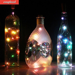 Wholesale Wine Bottles For Sale Wholesale - 2017 Hot Sale 20 LED Chic Cork Shaped Night Starry Light Operated Light Power Wine Bottle Lamp For Xmas Decor Cool