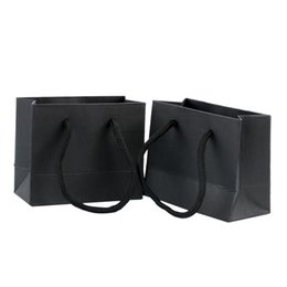 bolsas de cor branca Desconto 5PCS Presente Bolsas com alças multi-função High-end papel preto Bolsas reciclável Proteção Ambiental Saco de Compras Totes