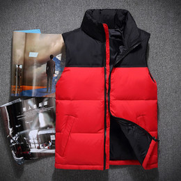 Wholesale Red Down Vest - 2017 winter fashion men's stand collar 90% White duck down Vests waistcoats jackets coats parkas outerwears