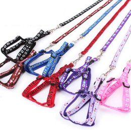 Wholesale dog leash harnesses - Dog Leashes Harness Safety Dog Pet Belt Collar Pet Belt Leash Tether Dog Supplies Leashes Pet Nylon