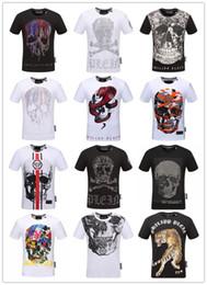 Wholesale perfect t shirts - Newest Skull brand German Men shirt Best quality Italy high-end designer clothing shape perfect Asian Medusa men's T-shirt code size M--3XL